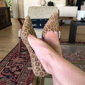 Salvatore Ferragamo Vintage Leopard Suede Pumps